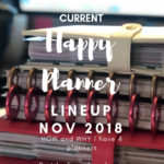 Current Happy Planner lineup – November 2018 (part 1)