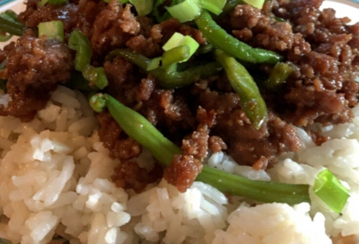 Korean Beef with Rice {Make-a-Meal Monday}