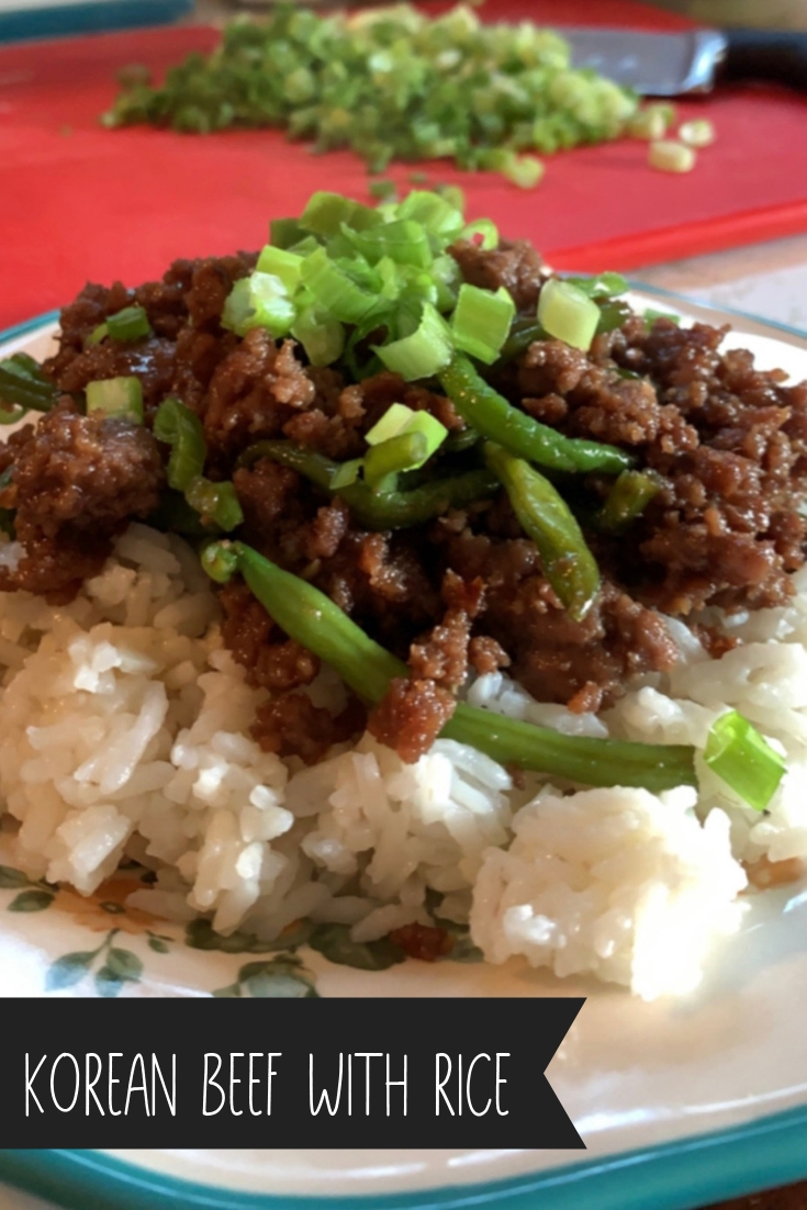 MAKE-A-MEAL MONDAYS | BLOG HOP | MY BLESSED MESS - For this weeks Make-a-Meal Monday post, I am sharing a new recipe for a frugal, quick version of Korean Beef with Rice! Sweet and savory at the same time, using ground beef makes this meal budget friendly yet delicious. #groundbeefrecipes #koreanbeefandrice #frugalmeals #quickmeals