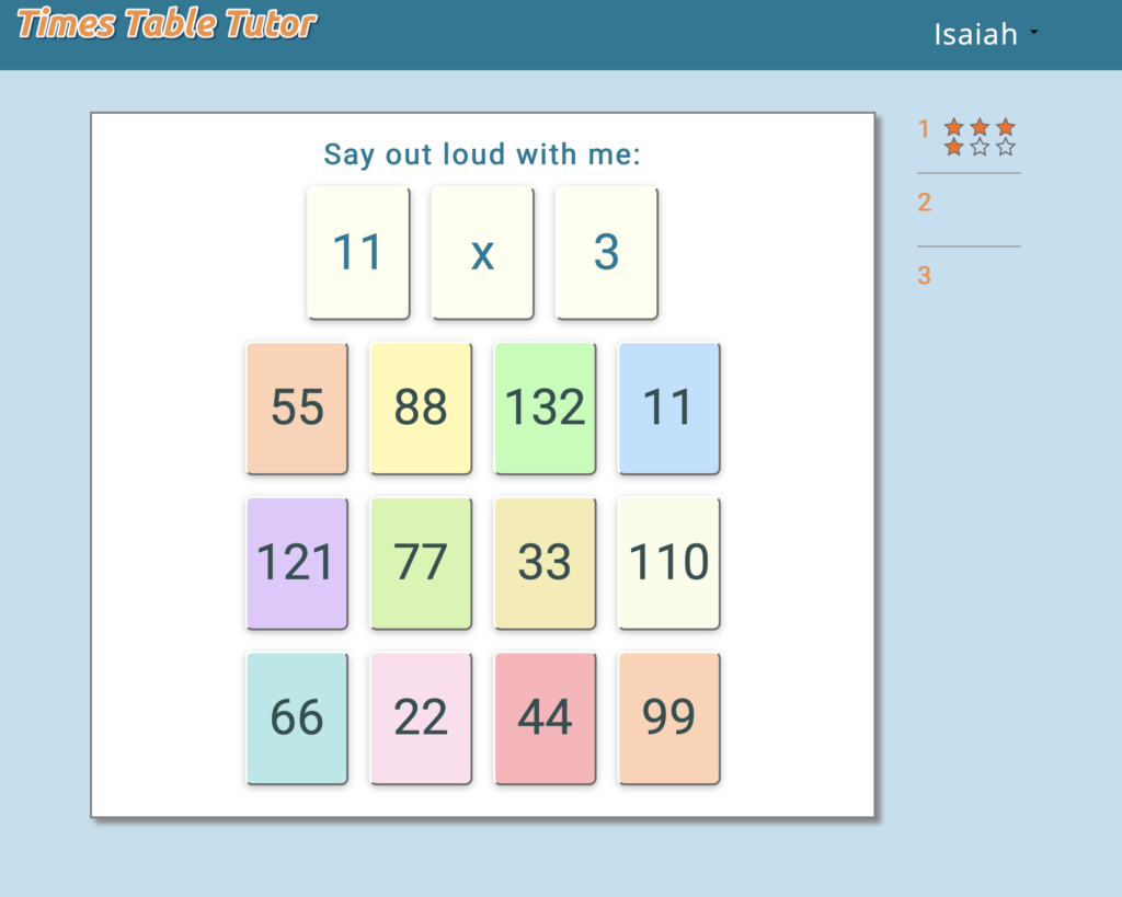 times-table-activity