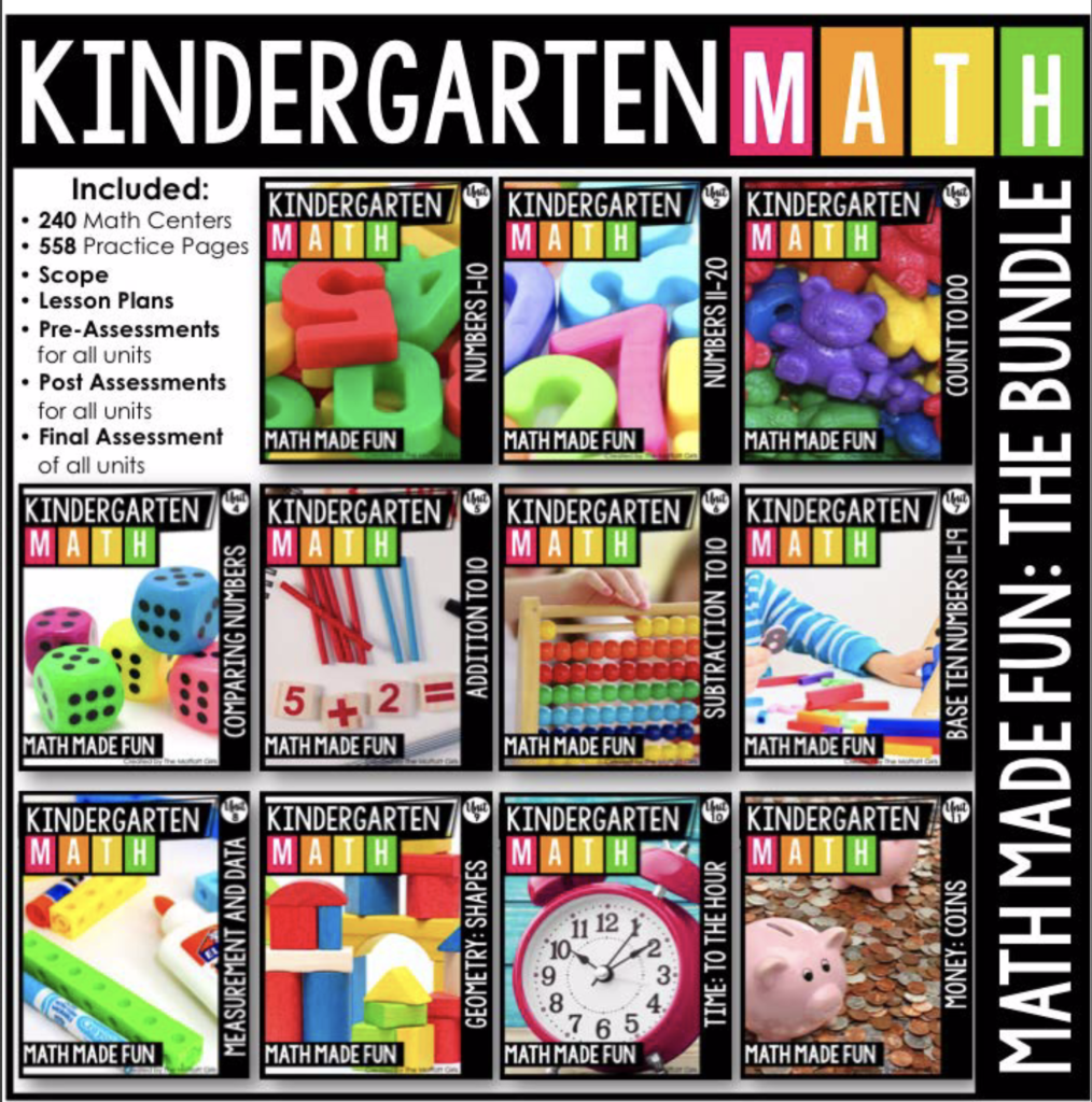 eclectic homeschooling curriculum math made fun kindergarten